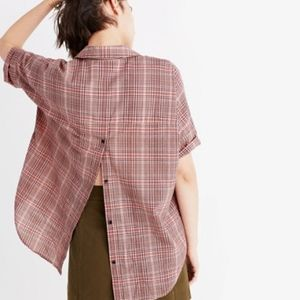 Madewell | Courier Button Back Shirt Hartley Plaid